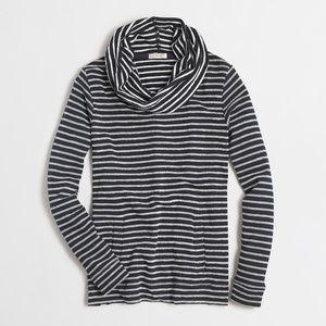 J. Crew • Striped terry funnelneck sweatshirt